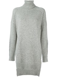 Isabel Marant Long Roll Neck Jumper Grey