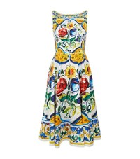Dolce And Gabbana Floral Print Cotton Dress Female Yellow