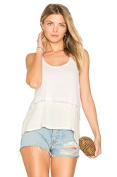 Feel The Piece Lois Layered Tank White