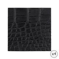 Amara Gator Recycled Leather Coasters Set Of 4 Slate