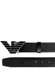 Emporio Armani 40Mm Logo Buckle Leather Belt