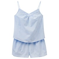 Joules Minny Stripe Dobby Camisole And Short Set Blue Pink Blue Pink