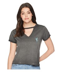 Roxy Fingers Crossed Arizona Motel Anthracite T Shirt Pewter