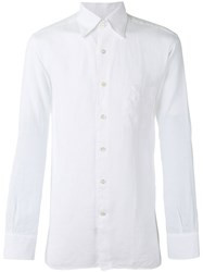 Canali Buttoned Shirt White