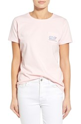 Women's Vineyard Vines 'Jumble Whale' Short Sleeve Pocket Tee
