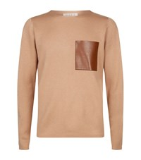 Sandro Pocket Detail Jumper Male Brown