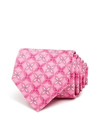 Bloomingdale's The Men's Store At Geometric Floral Classic Tie Pink