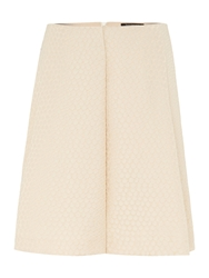 Tara Jarmon Mini Spot Textured Skirt Cream