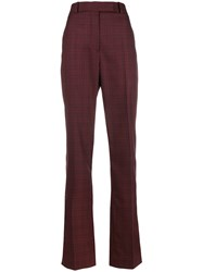 Calvin Klein 205W39nyc Plaid Trousers Red