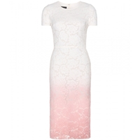 Burberry Ombre Lace Dress Antique Rose White