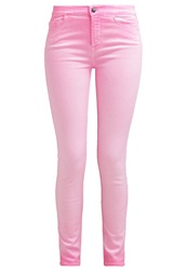 Giambattista Valli X 7 For All Mankind Slim Fit Jeans Flaming Pink Neon Pink