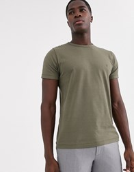 French Connection Crew Neck T Shirt Green