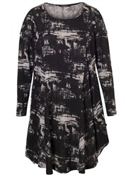 Chesca Printed Tunic Dress Black Grey