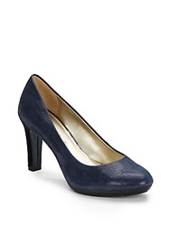 Ak Anne Klein Clemence Embossed Leather Pumps