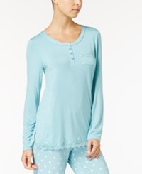 Alfani Lace Trimmed Pajama Tunic Only At Macy's Caribe