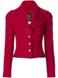 John Galliano Vintage Wide Lapels Jacket Red