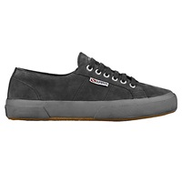 Superga 2750 Flat Lace Up Trainers Grey Suede