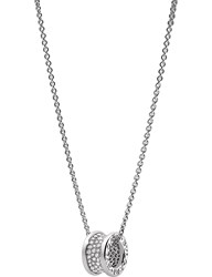 Bulgari Bvlgari B.Zero1 18Kt White Gold And Diamond Pendant Necklace