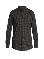 Dolce And Gabbana Circle Print Double Cuff Cotton Shirt Black