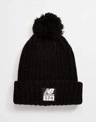 New Balance 574 Bobble Beanie Black