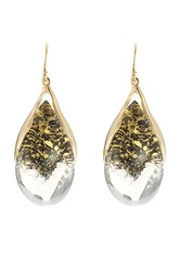 Alexis Bittar Suspended Tear Drop Earring Gold