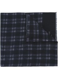 Corneliani Plaid Scarf Blue