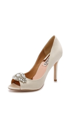 Badgley Mischka Lavender Ii Peep Toe Pumps Ivory
