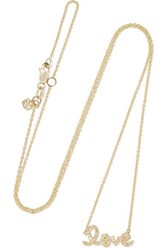 Sydney Evan Love 14 Karat Gold Diamond Necklace One Size