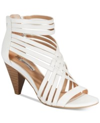 Inc International Concepts Garoldd Strappy High Heel Dress Sandals Only At Macy's Women's Shoes Bright White