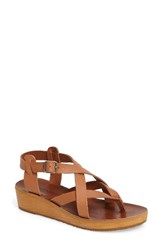 Lucky Brand Women's Hadinas Wedge Sandal Natural Leather