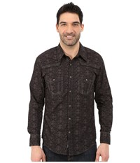 Rock And Roll Cowboy Long Sleeve Snap B2s5431 Brown Men's Long Sleeve Button Up