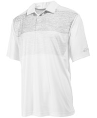 Greg Norman For Tasso Elba Men's Partially Heathered Rapichill Performance Polo Only At Macy's Bright White