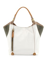 Oryany Aquarius Leather Shopper Bag Multi