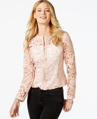 Inc International Concepts Faux Leather Lace Jacket Only At Macy's