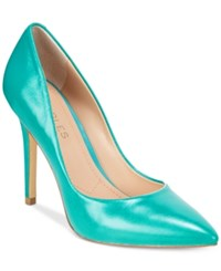 Charles By Charles David Pact Leather Pumps Women's Shoes Sea Green