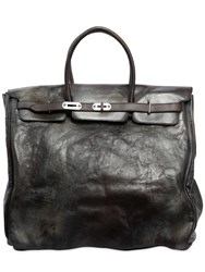 Numero 10 Leather Top Handle Bag Black
