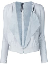 Giorgio Brato Draped Jacket Grey