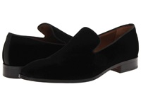 Massimo Matteo Velvet Slip On Black Men's Slip On Shoes
