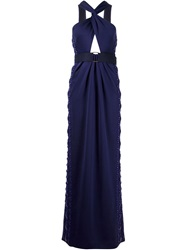 Marc Jacobs Twisted Bust Gown Blue