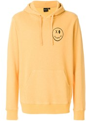 Deus Ex Machina Xo Print Hoodie Yellow And Orange