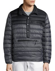 Hawke And Co Pullover Down Puffer Jacket Black Grey