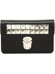 Comme Des Garcons Wallet Studded Buckled Wallet Black