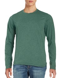 Velvet By Graham And Spencer Long Sleeve Heathered Tee Hedge Green