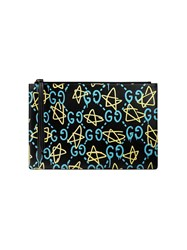 Guccighost Pouch Women Leather One Size Black