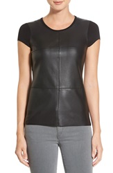 Bailey 44 'Hardy' Faux Leather Front Tee Black