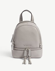 Michael Michael Kors Rhea Extra Small Grained Leather Backpack Pearl Grey