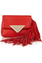 Sara Battaglia Teresa Fringed Leather Clutch