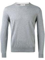 Brunello Cucinelli Crew Neck Sweatshirt Grey