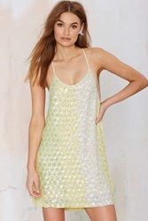 Nasty Gal Mlv Terra Sequin Dress Yellow
