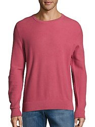 Michael Kors Pique Stitch Cotton Sweater Bright Rose